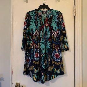 Reborn multi color floral tunic